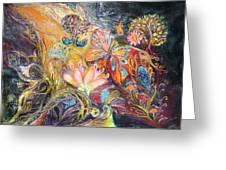 The Shining Of The Orange Tree Greeting Card by Elena Kotliarker