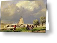 The Shipwreck Greeting Card by Hermanus Koekkoek