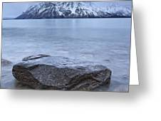 The Shoreline Of Kathleen Lake In Late Greeting Card by Robert Postma