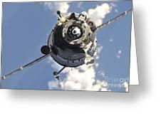 The Soyuz Tma-20 Spacecraft Greeting Card by Stocktrek Images