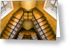 The Staircase Reflection Greeting Card by Odon Czintos