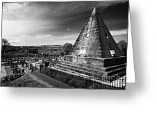 The Star Pyramid Near Valley Cemetery Stirling Scotland Uk Greeting Card by Joe Fox