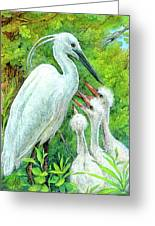 The Stork - A Symbol Of Childbirth Greeting Card by Natalie Berman