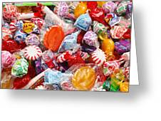 The Sugar Rush Square Greeting Card by Andee Design