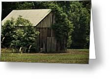 The Summer Barn Greeting Card by Rebecca Sherman