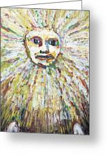 The Sun God Greeting Card by Kazuya Akimoto