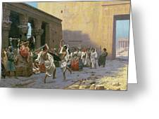 The Sword Dance Greeting Card by Jean Leon Gerome
