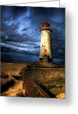 The Talacre Lighthouse Greeting Card by Adrian Evans