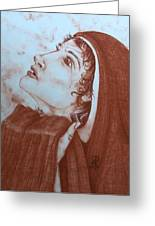 The Tear Of Madonna Greeting Card by Patsy Fumetti  - SouthWest Design Studio