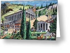 The Temple Of Apollo At Delphi Greeting Card by Giovanni Ruggero