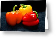 The Three Peppers Greeting Card by Christopher Holmes