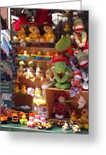 The Toy Store Greeting Card by Cathy Curreri