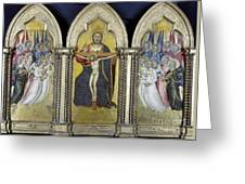 The Trinity With Angels Greeting Card by Granger