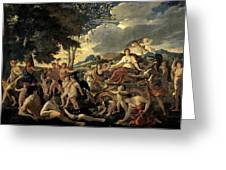 The Triumph Of Flora Greeting Card by Nicolas Poussin
