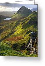 The Trotternish Hills From The Quiraing Isle Of Skye Greeting Card by John McKinlay