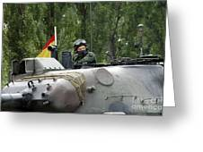 The Turret Of The Leopard 1a5 Mbt Greeting Card by Luc De Jaeger