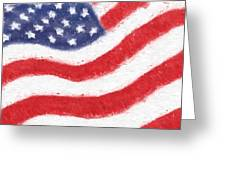 The United States Flag Greeting Card by Heidi Smith