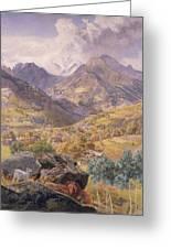 The Val D'aosta Greeting Card by John Brett