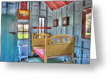 The Vincent Van Gogh Small House Greeting Card by Tamyra Ayles