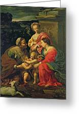 The Virgin And Child With Saints Greeting Card by Simon Vouet