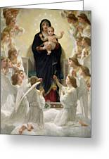 The Virgin With Angels Greeting Card by William-Adolphe Bouguereau