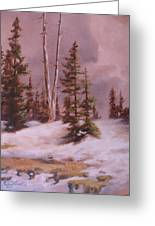 The Wasatch Divide Plein Air Greeting Card by Mia DeLode