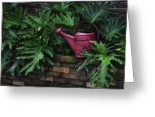 The Watering Can Greeting Card by Brenda Bryant