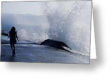 The Wave Greeting Card by Joana Kruse
