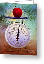 The Weight Of An Apple Greeting Card by Tara Turner