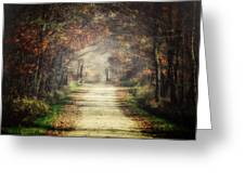 The Winding Road Greeting Card by Lisa Russo