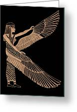 The Winged Isis Greeting Card by Jim Ross