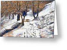 The winter park Greeting Card by Odon Czintos