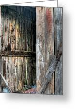 The Wood Shed Greeting Card by JC Findley