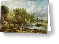 The Young Waltonians - Stratford Mill Greeting Card by John Constable