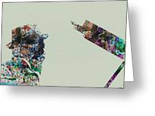Thelonious Monk Greeting Card by Naxart Studio