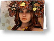 They Call Her Autumn Greeting Card by Jutta Maria Pusl