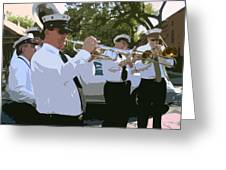Third Line Brass Band Greeting Card by Renee Barnes