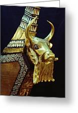 This Gilded Bull Originates Greeting Card by Lynn Abercrombie