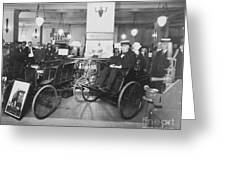 Thomas Edison In Quadricycle Greeting Card by Photo Researchers