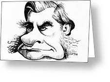 Thomas Huxley, Caricature Greeting Card by Gary Brown