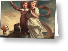Thomas John Clavering and Catherine Mary Clavering Greeting Card by George Romney
