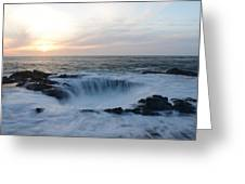 Thor's Well Greeting Card by Craig Ratcliffe
