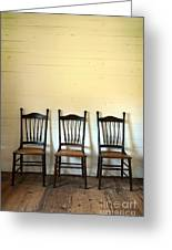 Three Antique Chairs Greeting Card by Jill Battaglia