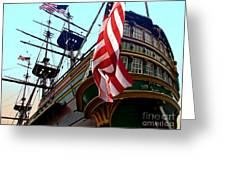 Three Masted Ship Greeting Card by Jerry L Barrett