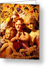 Three Old Dolls Greeting Card by Garry Gay