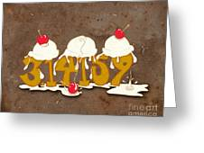 Three Scoops Of Pi Greeting Card by Laura Brightwood
