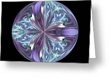Three Violet Petals Greeting Card by Yvette Pichette