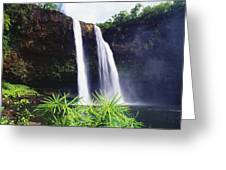 Three Waterfalls Greeting Card by Peter French - Printscapes