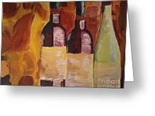 Three's A Party Greeting Card by J Von Ryan