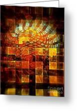 Through The Windows Greeting Card by Klara Acel